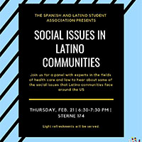 Discussion of Social Issues in Latino Communities on February 21